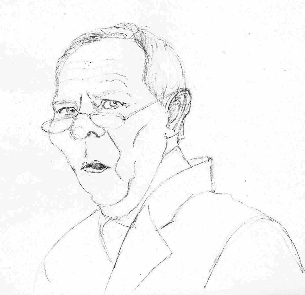 Karikatur Wolfgang Schäuble