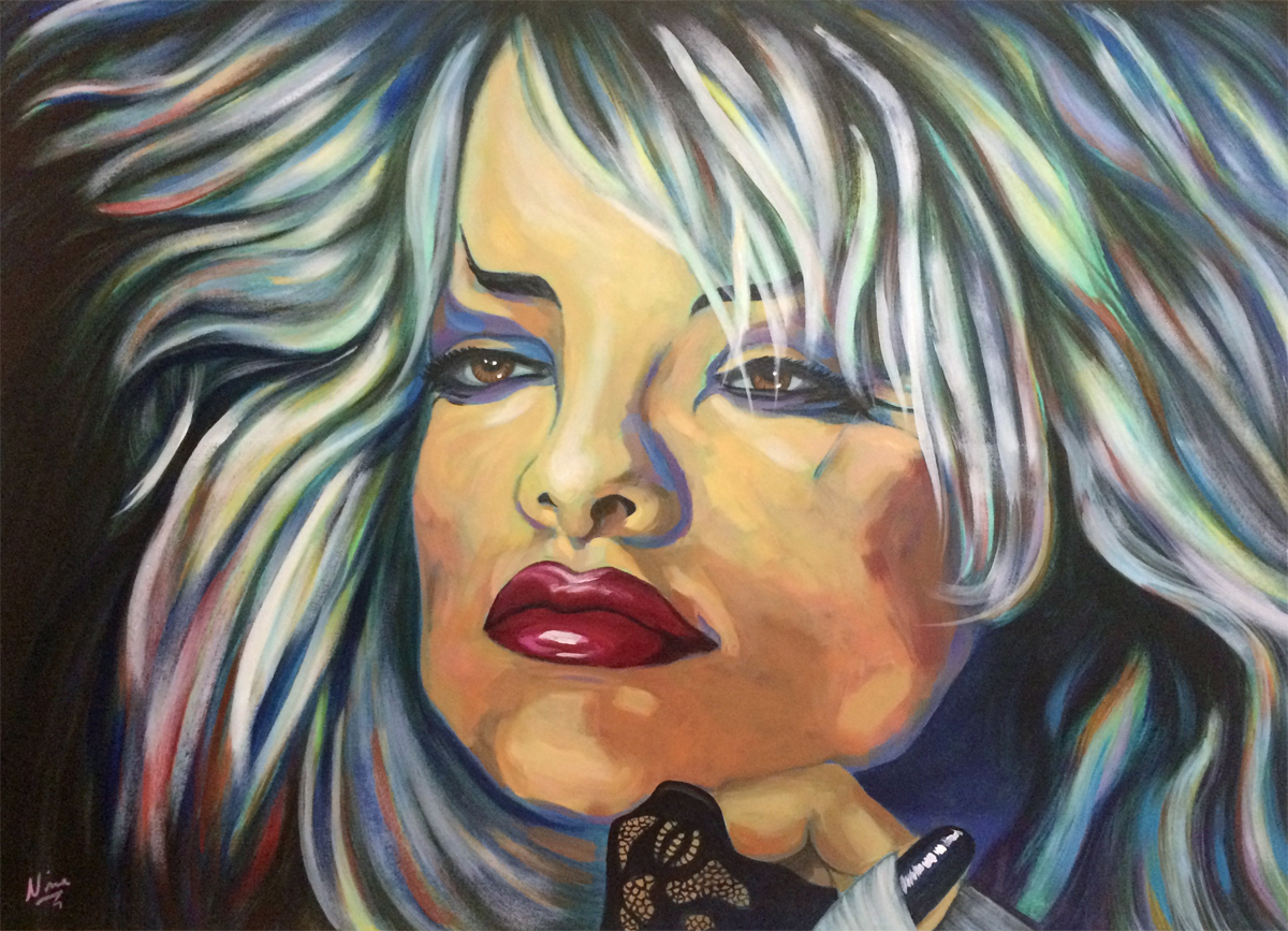 Nina Hagen in Acryl gemalt