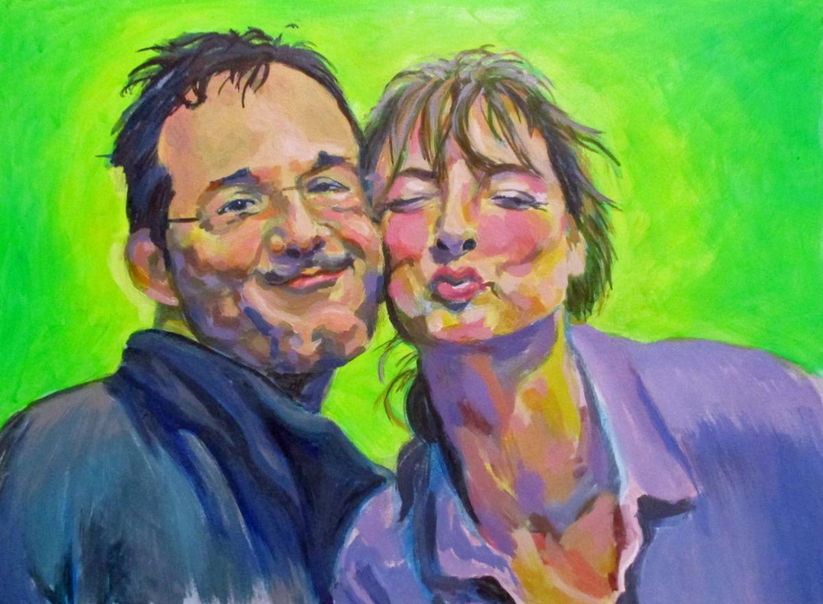 Portrait in Acryl gemalt