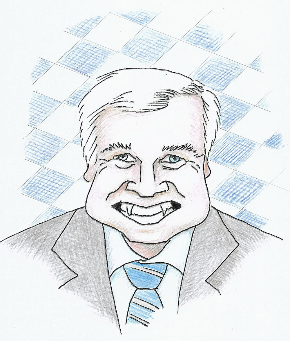Karikatur Horst Seehofer