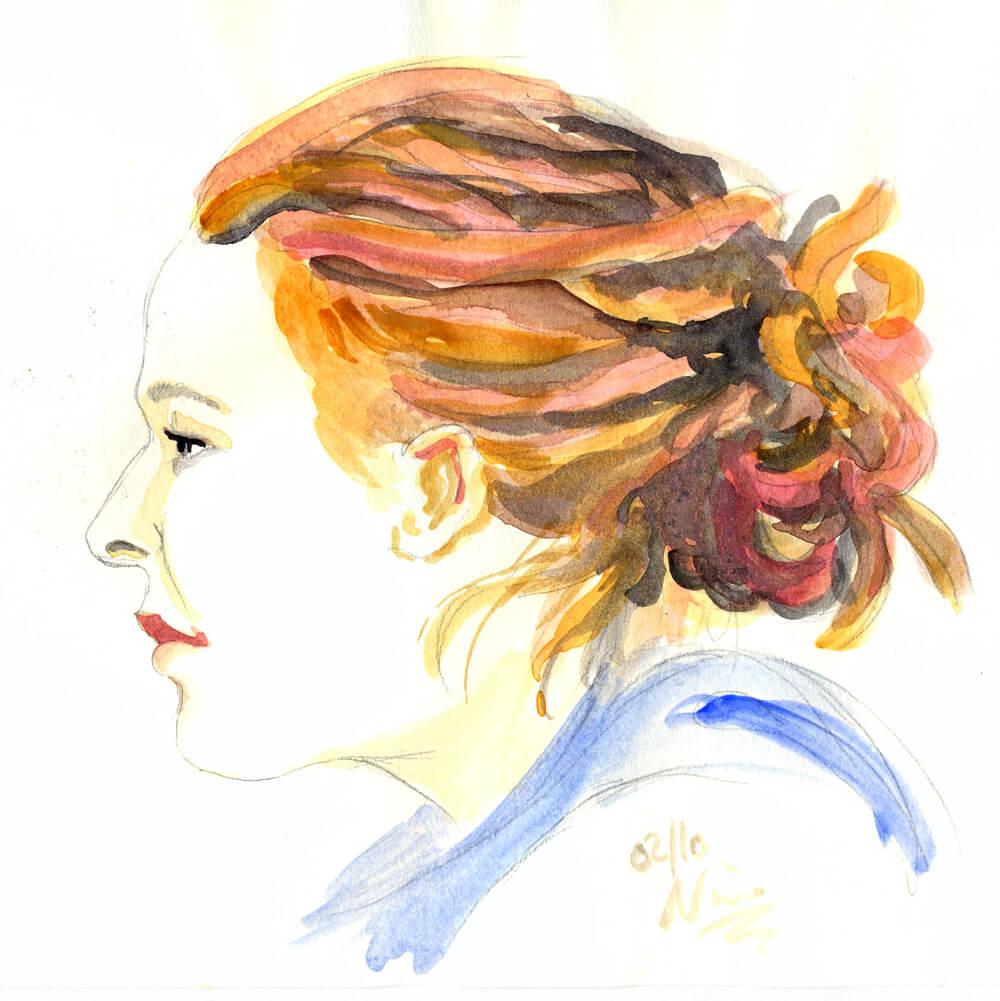 Portrait in Aquarell von Nina Horstmeier